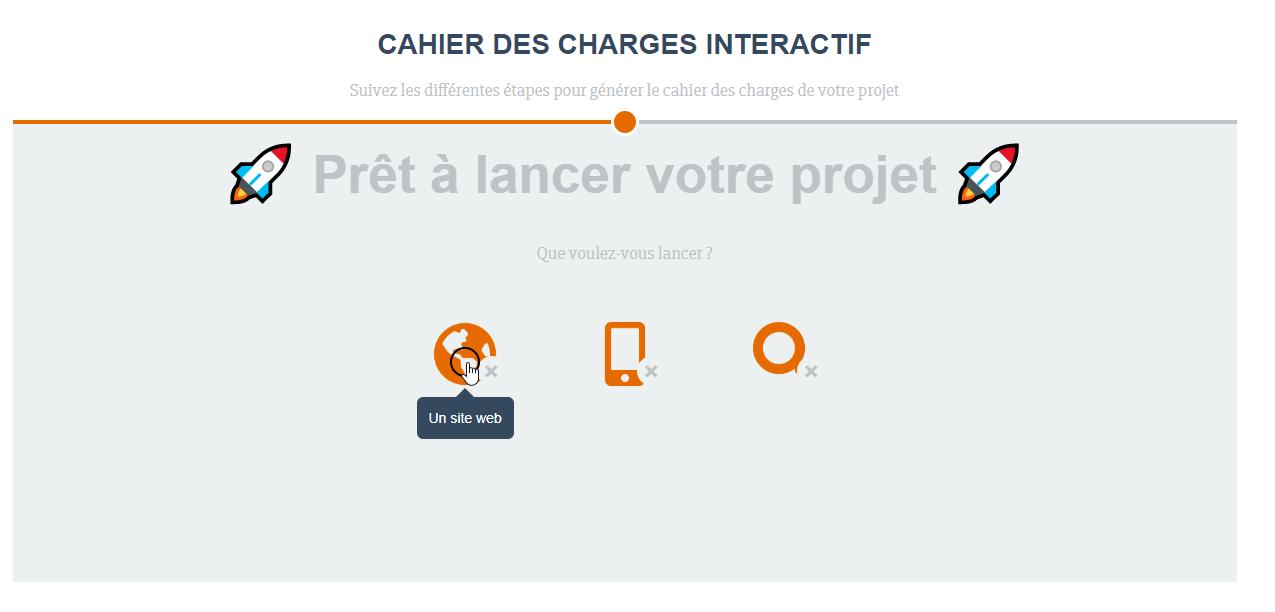 générateur de cahier des charges en ligne interactif