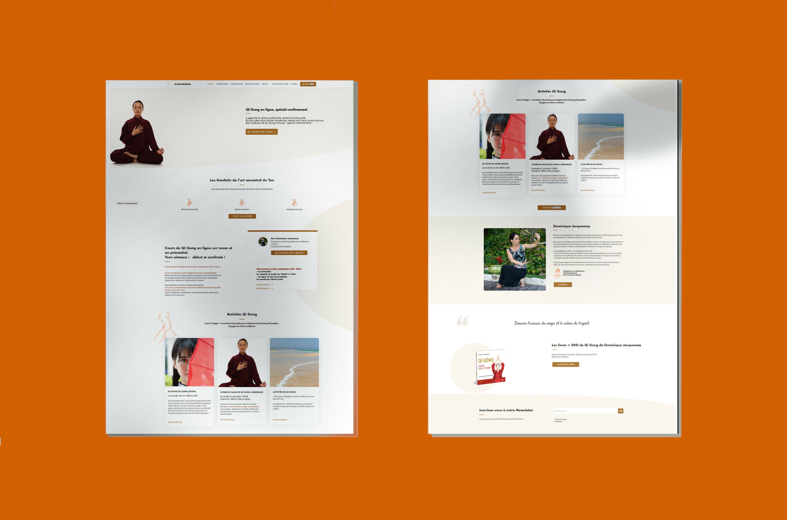 Qi Gong Bruxelles (webdesign)