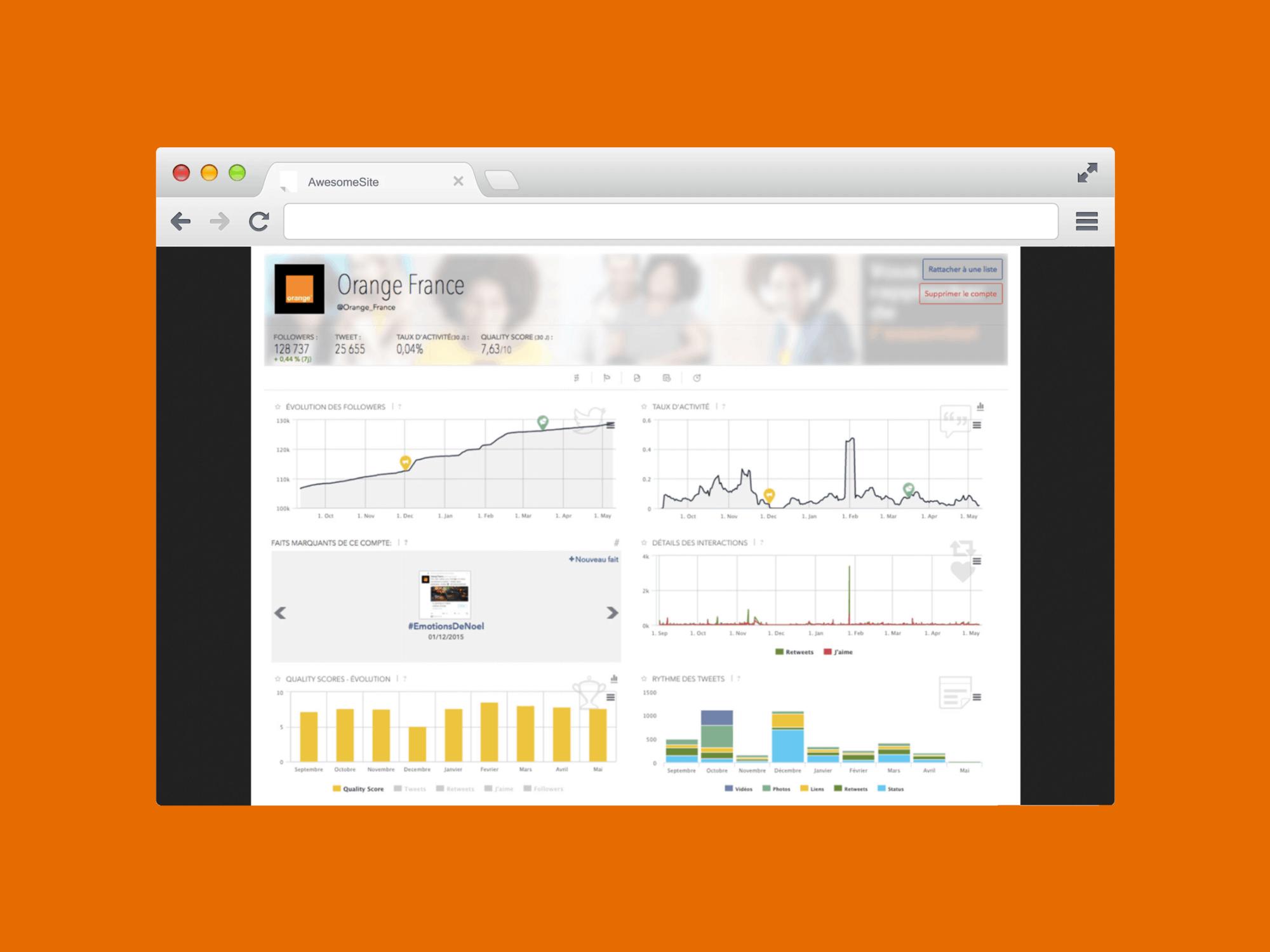 Make me stats (SaaS & web app.)